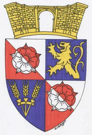 Les armoiries d'Auxon-Dessous, composition de Nicolas Vernot